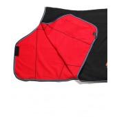 Black & Red Fleece Cooler