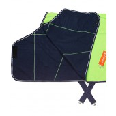 Lime & Navy Fleece Cooler