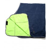 Navy & Lime Fleece Cooler