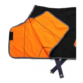 Black & Orange Fleece Cooler
