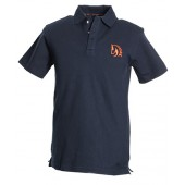 Black Polo Shirt, Orange logo