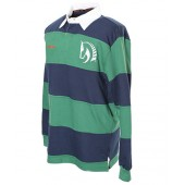 Green and Navy Striped Rugby Shirt