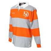 Orange and Grey Striped Rugby Shirt