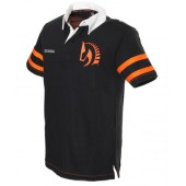 Black Short Sleeved Rugby Shirt