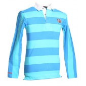 Blue and Laguna Striped Rugby Shirt