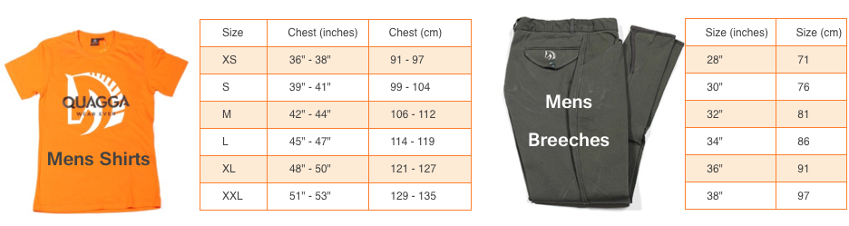 Ladies size guide