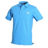 Blue Polo Shirt, White logo