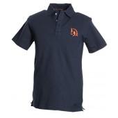 Black Polo Shirt, Orange logo