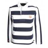Navy and White Striped Rugby Shirt